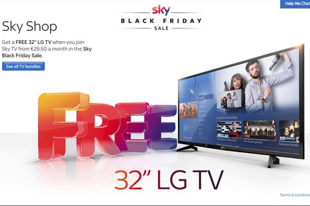 Sky dá uma TV de 32 polegadas a novos assinantes. Imagem: Sky