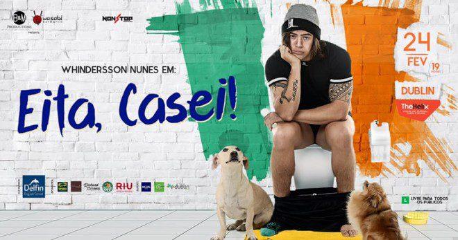 Comediante brasileiro se apresenta em Dublin pela segunda vez. Foto: Facebook