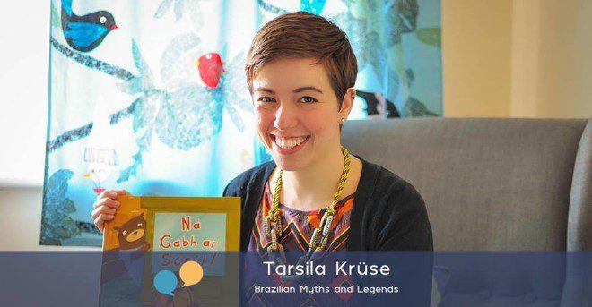 Ilustradora Tarsila Kruse realiza evento infantil em Tallaght. Foto: Mitos e Lendas Brasileiras