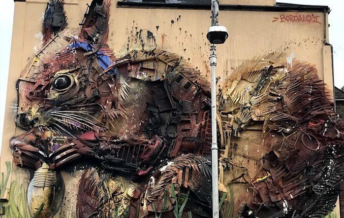 Instalação feita em Dublin pelo artista Artur Bordalo será retirada