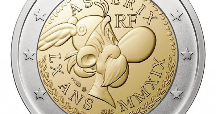 Asterix é impresso em moeda de 2 euros na França