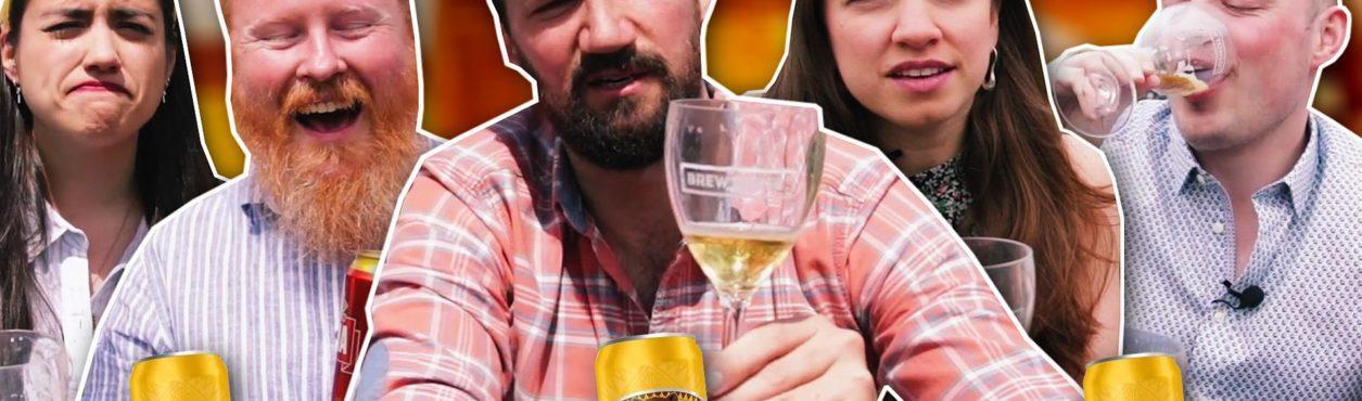 Gringos provando cervejas brasileiras