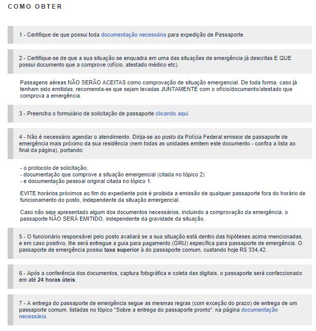 Documentos necessários para solicitar o passaporte brasileiro. Reprodução