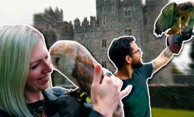 Dormimos em um castelo na Irlanda