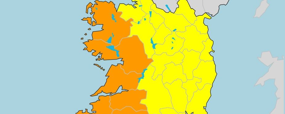 Irlanda emite alertas amarelo e laranja para tempestade Lorenzo