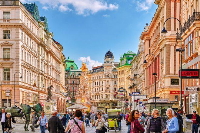 Viena, na Áustria, respira cultura. Foto: Shutterstock