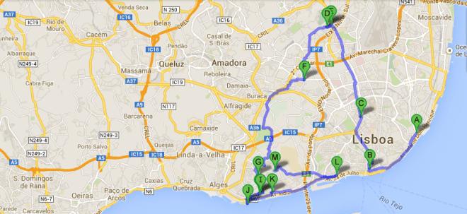 Atrações interessantes para visitar e aproveitar em Lisboa@ google