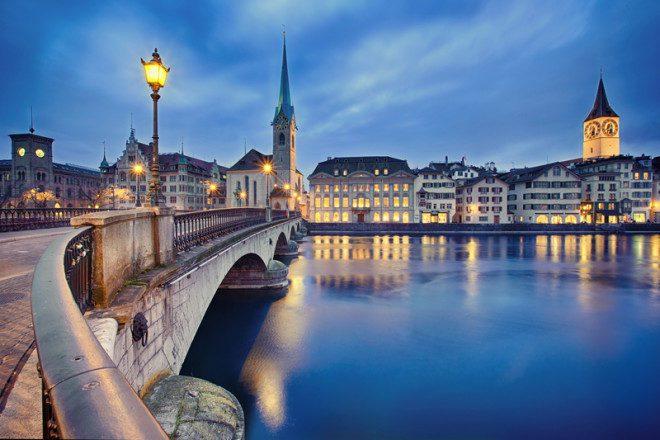 A Suíça é o melhor país para viver, de acordo com pesquisa. Zurique é a cidade mais populosa. Nataliya Hora | Dreamstime