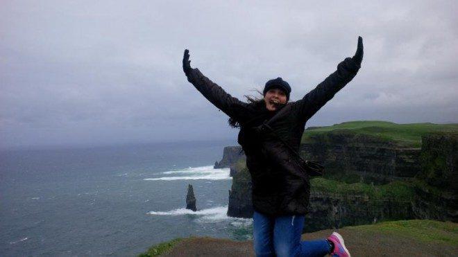 A Irlanda possui atrações incríveis, entre elas o Cliffs of Moher@ Arquivo pessoal