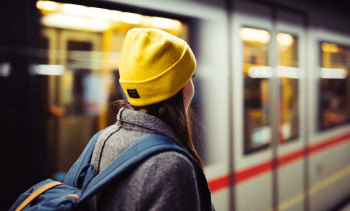 No trem para Dublin